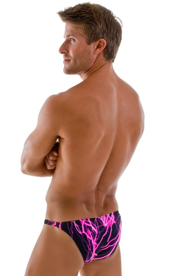 Stuffit Pouch Bikini Swimsuit in Hot Pink Lightning 3