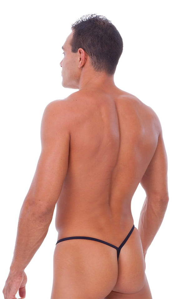Y Back G String Swim Thong in Black 3
