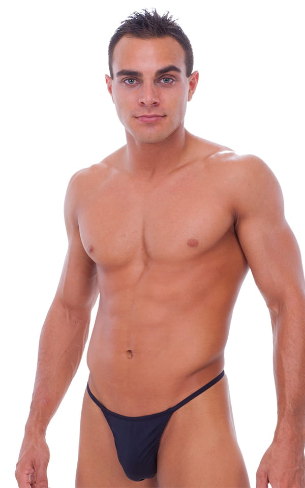 Y Back G String Thong Pouch Enhanced in Black (PEP) 1