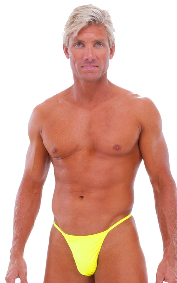 Y Back G String Swim Thong in Chartreuse 1