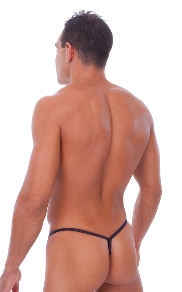 Y Back G String Swim Thong in Wet Look Lipstick Red 3