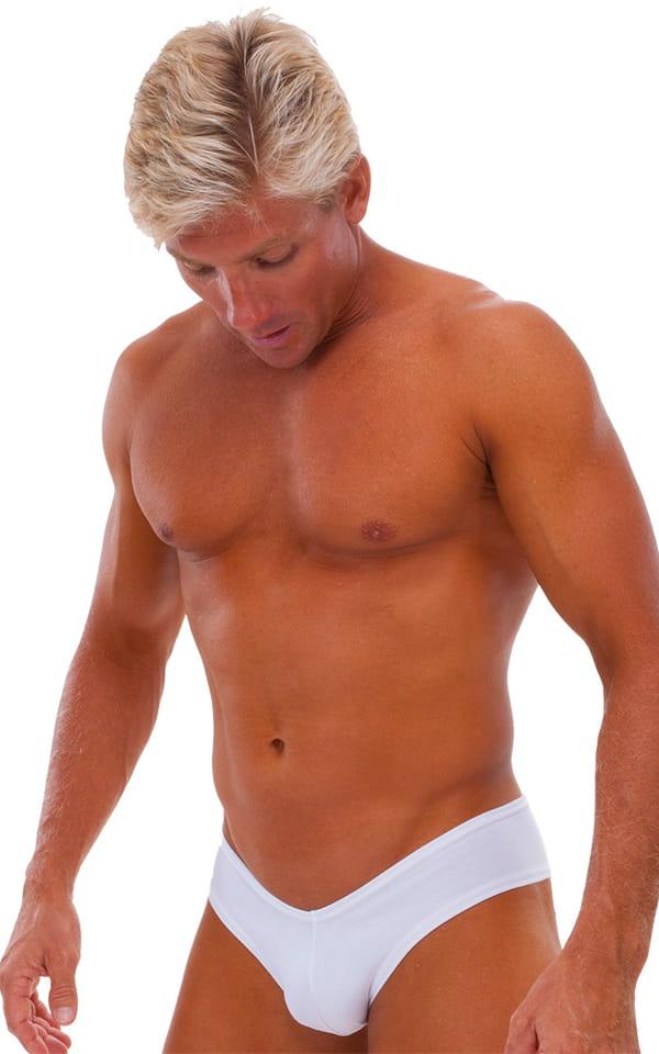 Hot Pants - Sexy Short Shorts in Semi Sheer ThinSKINZ Mocha by Skinz