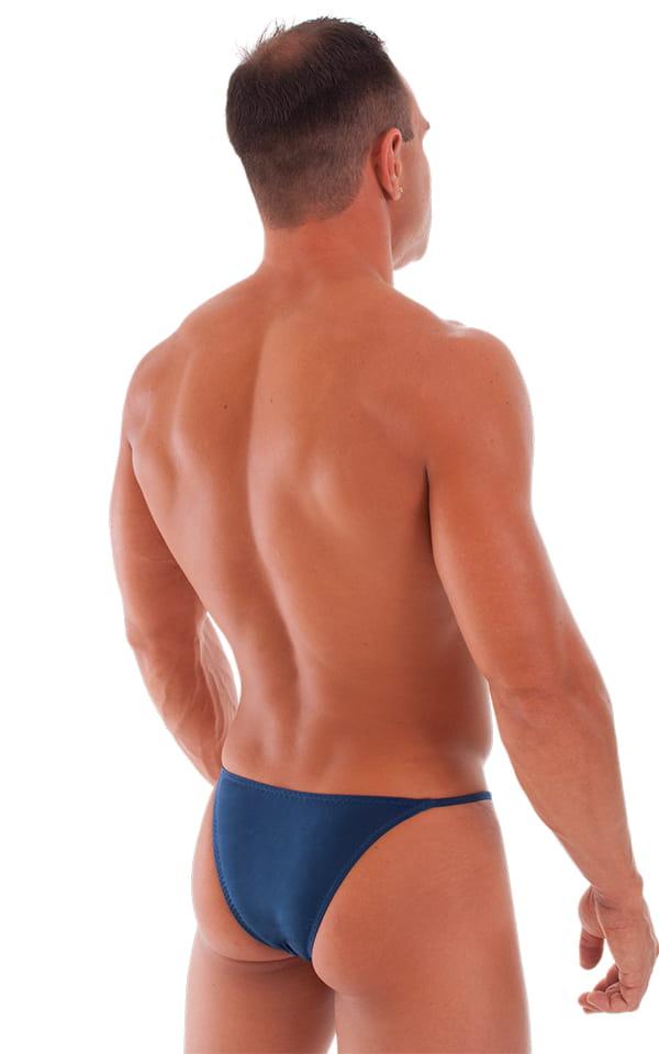 Skinny Side Half Back Swim Suit in Semi Sheer ThinSKINZ Navy Blue 3