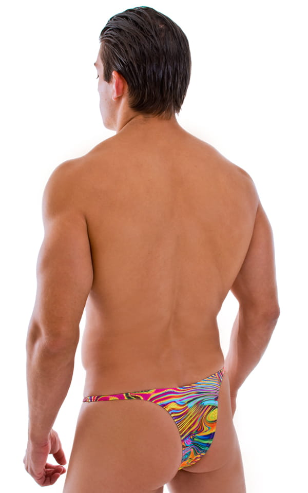 Sunseeker Micro Pouch Half Back Bikini in ThinSKINZ Neon Dali 2