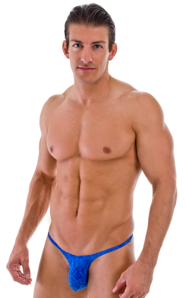 mens blue brazilian cut swimwear