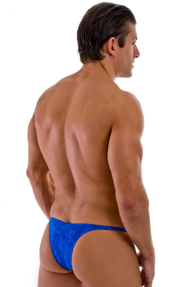 mens blue brazilian cut swimwear back view