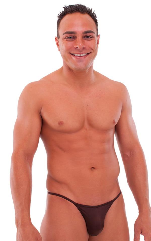 2093621c9699 Smooth Pouch Skinny Sides Swim Thong in Semi Sheer ThinSKINZ Mocha ...