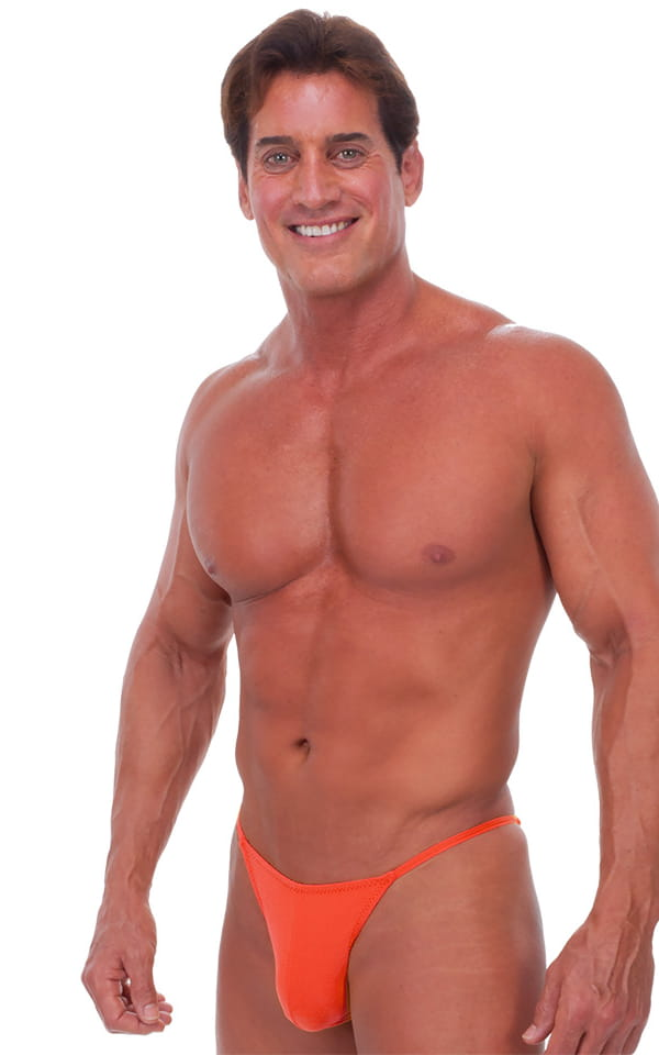 Fitted Pouch - Puckered Half Back - Swimsuit in Semi Sheer ThinSKINZ Apricot 1