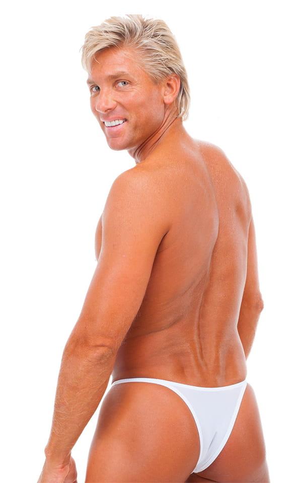 Sunseeker Micro Pouch Half Back Bikini in White PowerNet 3