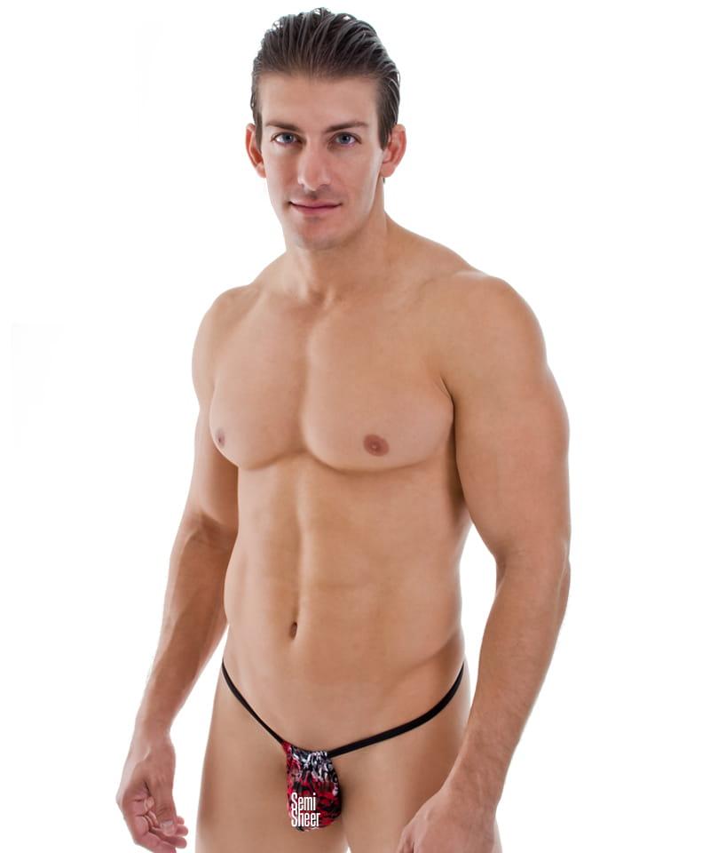 ddcc8c8c87ea Mens Sexy Semi-Sheer Swimwear