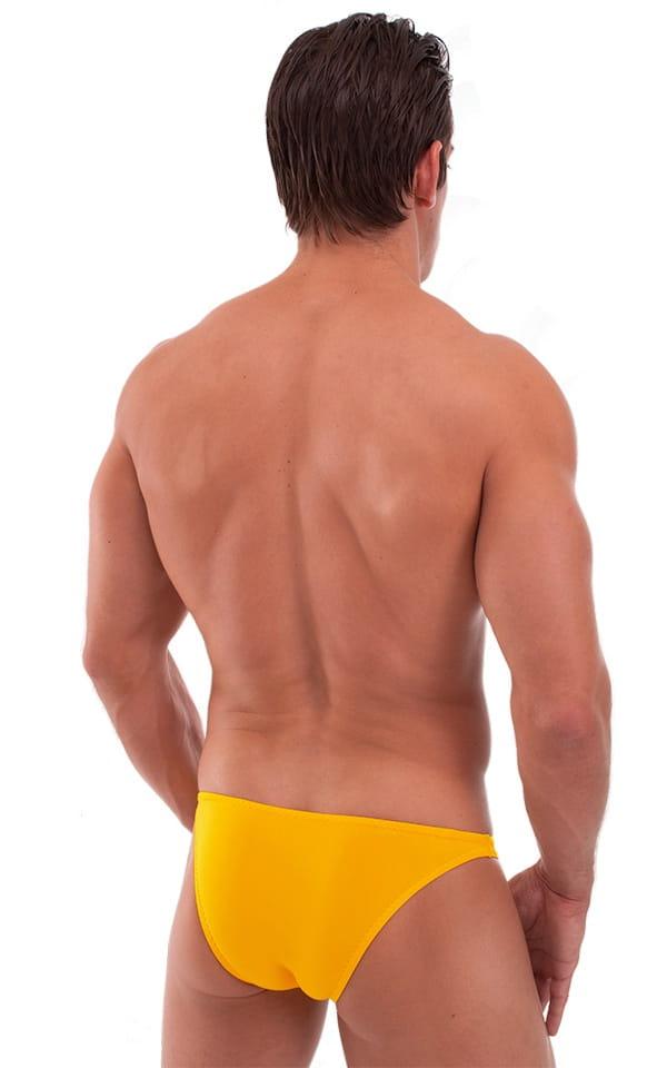 Exotic Dancer - Pouch Enhanced - Pistol Bikini in Semi Sheer Sunset Yellow 3