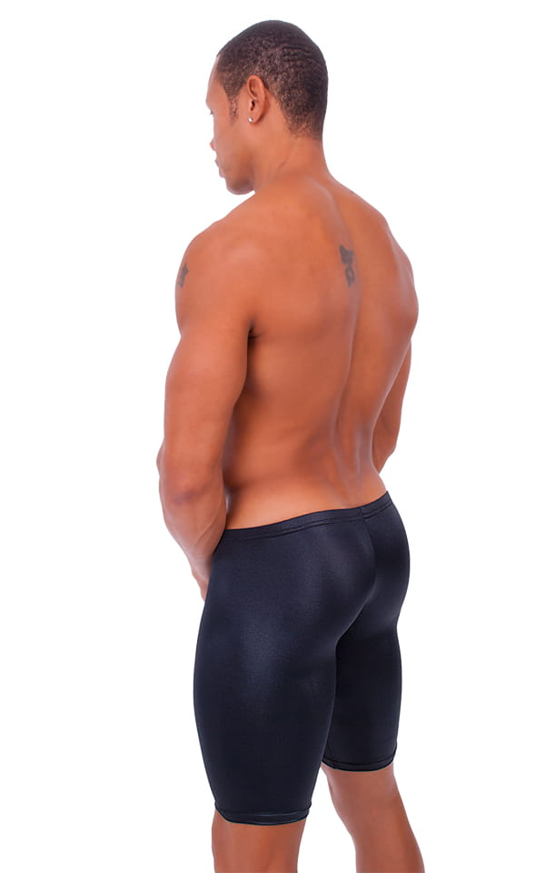 Extreme Lycra Jammer Shorts in Wet Look Black 3