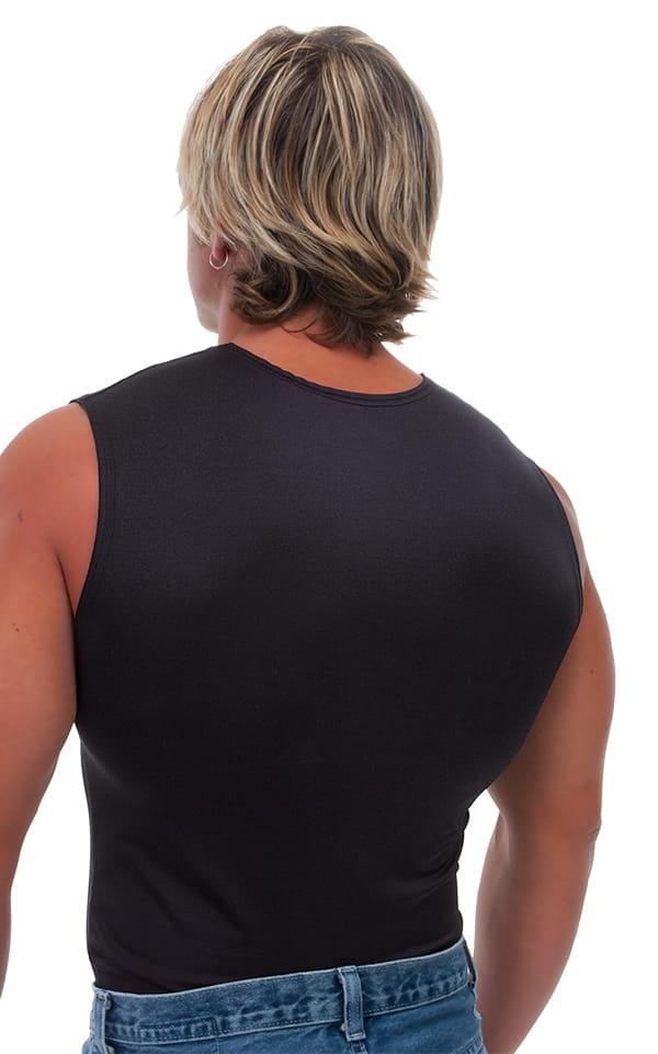 Sleeveless Lycra Muscle Tee in Black 3