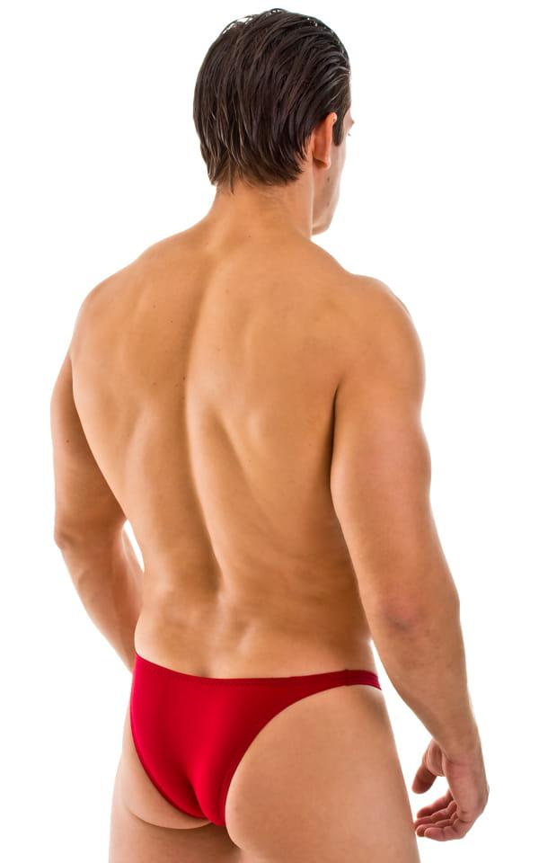 Rio Tanning Bikini Swimsuit in Semi Sheer Lipstick Red ThinSKINZ 3