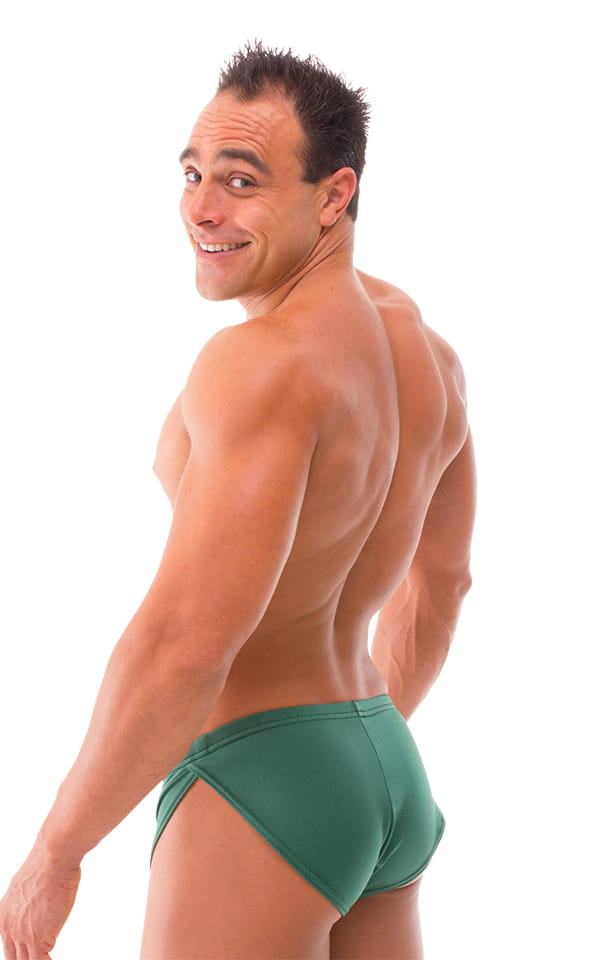 Swimsuit Cover Up Split Running Shorts in Hunter Green 3