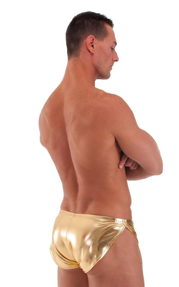 Swimsuit Cover Up Split Running Shorts in Liquid Gold 3