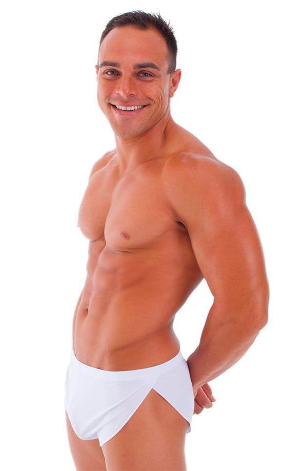 18b597ee48 Swimsuit Cover Up Split Running Shorts in ThinSKINZ White - Semi ...