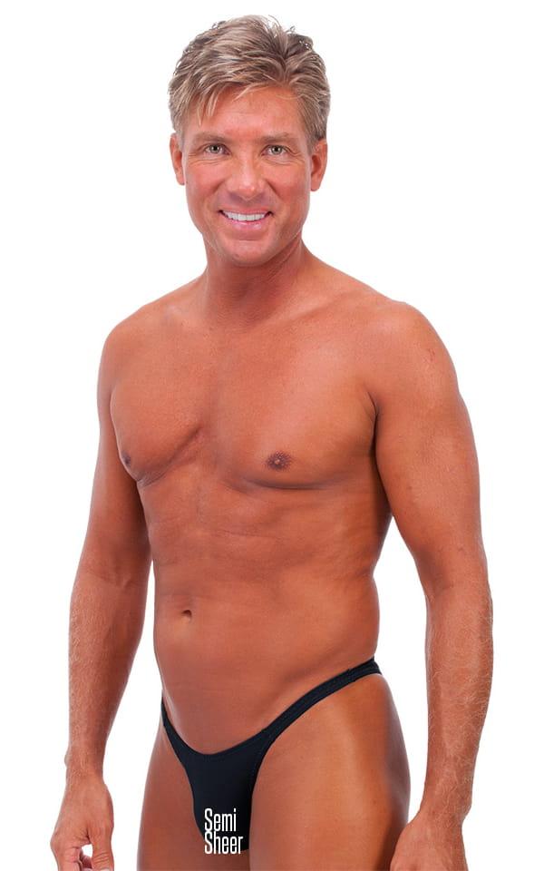 Rio Tanning Bikini Swimsuit in Semi Sheer Black PowerNet 1