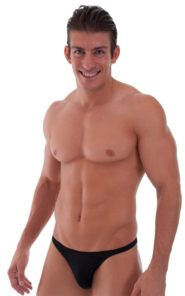Smooth Front Bikini Bathing Suit in ThinSKINZ Black - Semi Sheer 1