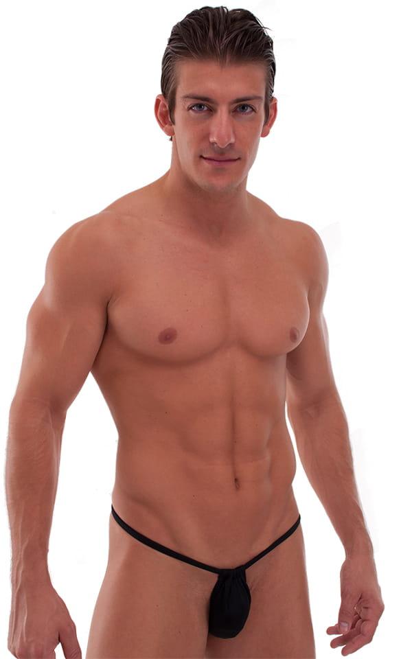 Adjustable to Micro Pouch Tanning Bikini in Black 3