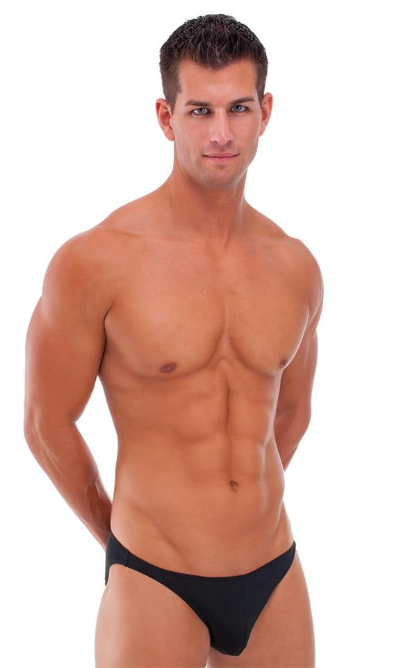 Bikini-Brief Swimsuit in Semi Sheer ThinSKINZ Black 1