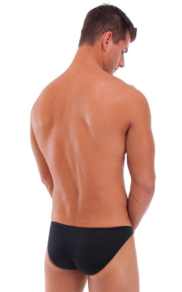 Bikini-Brief Swimsuit in Semi Sheer ThinSKINZ Black 3