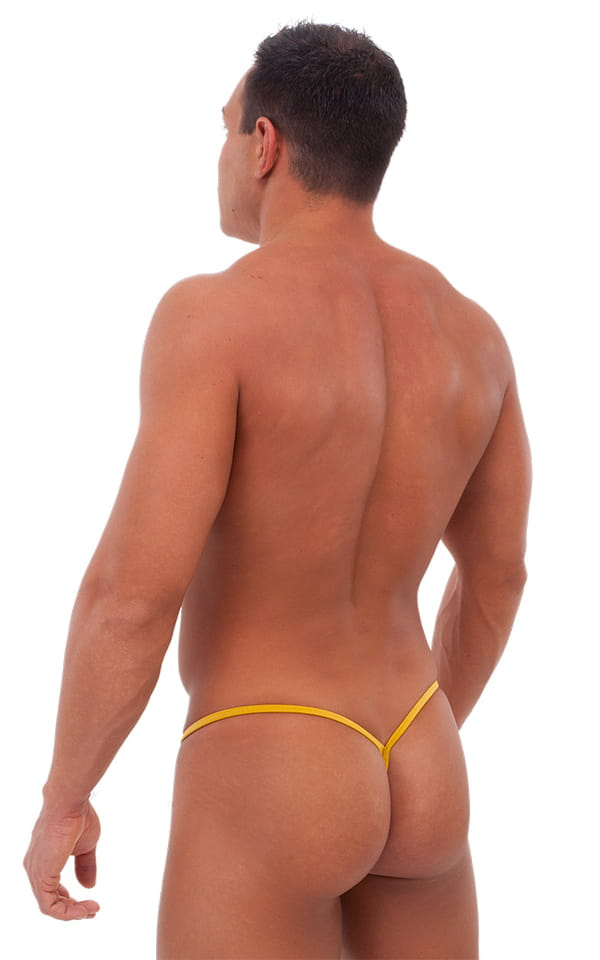 Teardrop G String Swim Suit in Liquid Gold 3