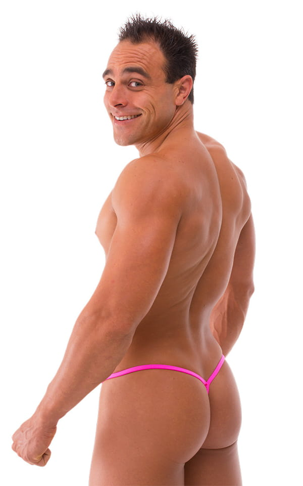 Mens neon gstring swimsuit back view