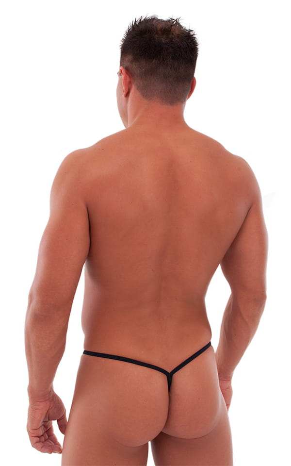 Teardrop G String Swim Suit in Black PowerNet 3