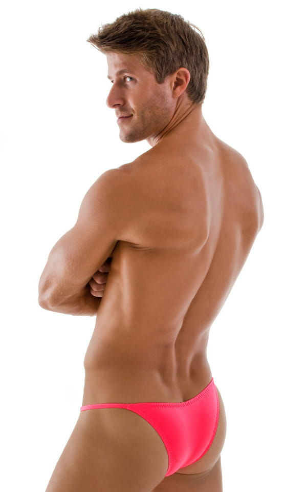 Stuffit Pouch Half Back Tanning Swimsuit in Brilliant Coral 3