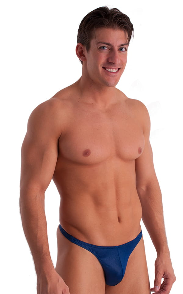 T Back Thong Swimsuit in Dark Navy Blue 1
