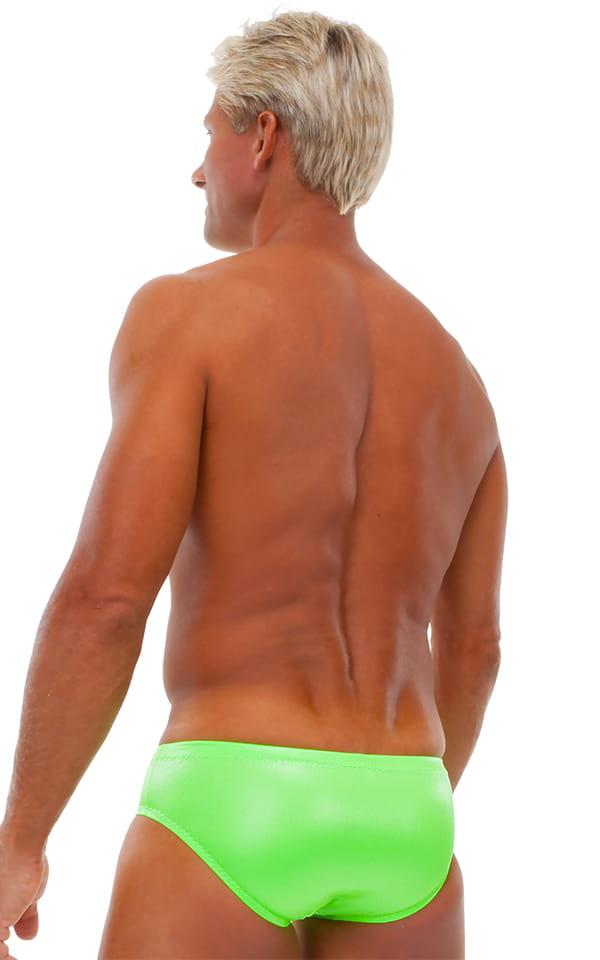 Riviera Swim Suit Brief in Neon Lime 3
