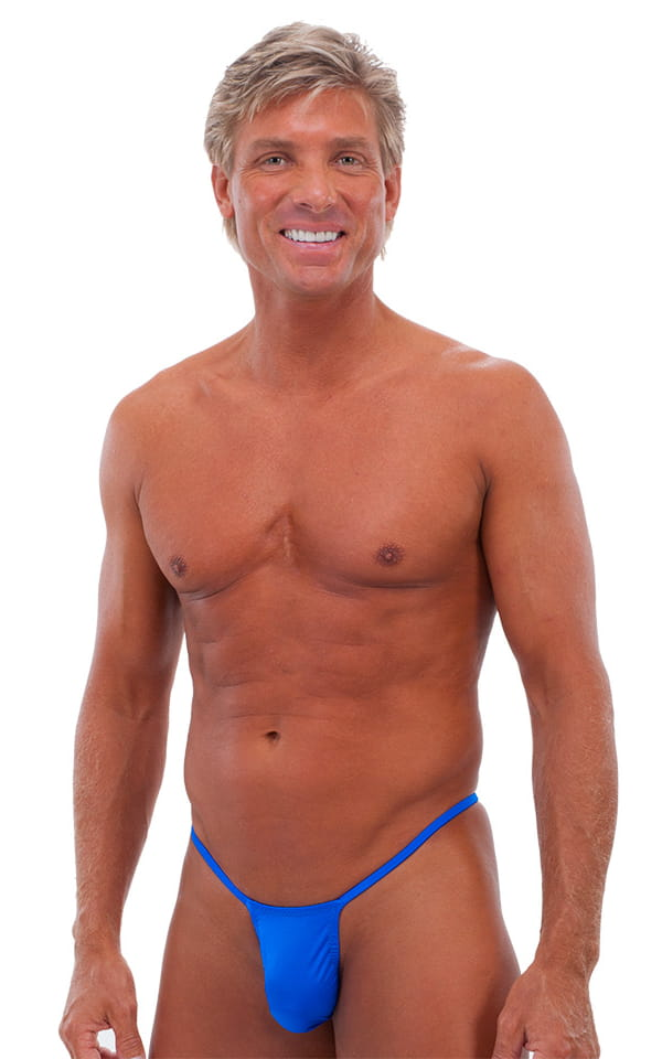 Roman G String Swim Thong in Bright Royal Blue 1
