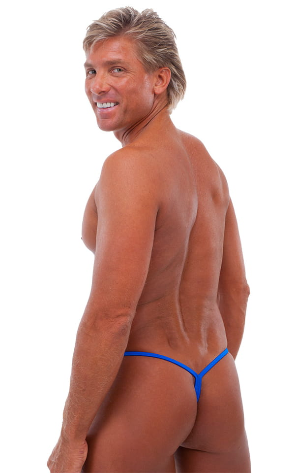 Roman G String Swim Thong in Bright Royal Blue 3