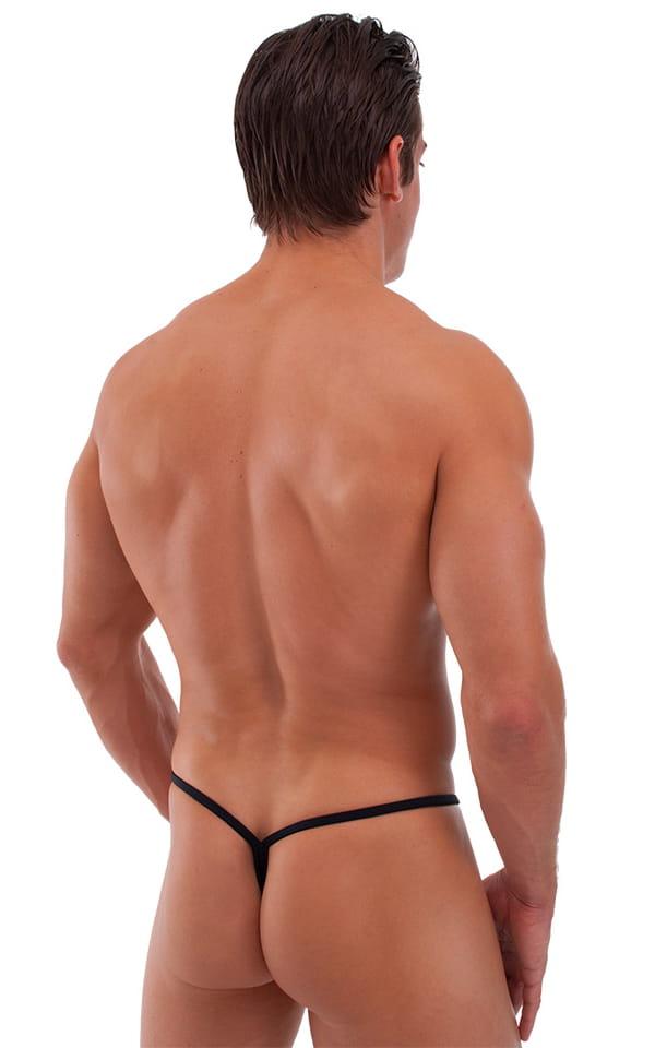 Roman G String Swim Thong in Semi Sheer ThinSKINZ Black 3