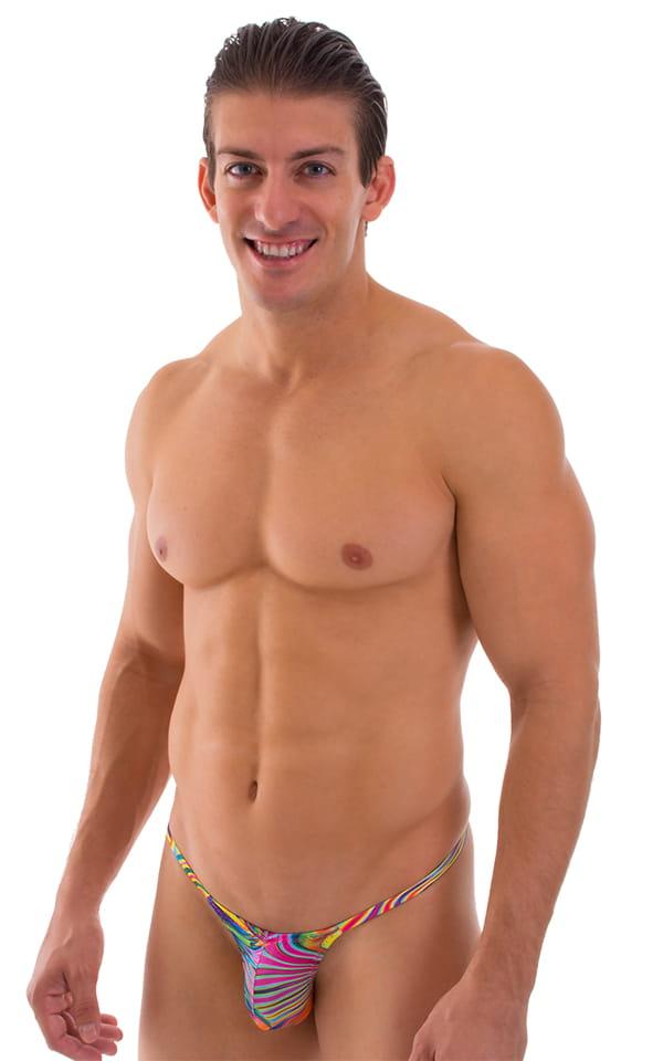 8a3b427adb Stuffit Pouch G String Swimsuit in Neon Dali | Skinzwear.com