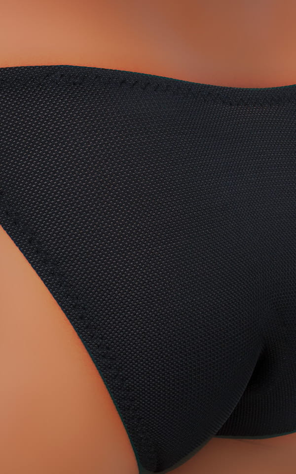 Fitted Bikini Bathing Suit in Semi SHEER Black PowerNet nylon/lycra 4