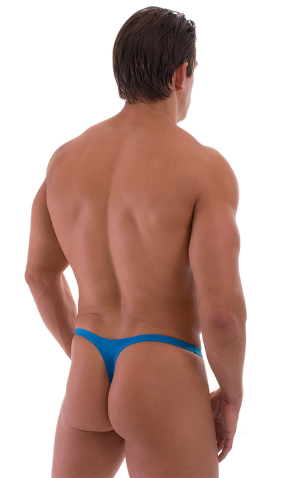 Quick Release Thong - Bravura Pouch in Semi Sheer ThinSKINZ Sapphire 3