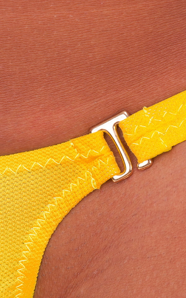 Quick Release Thong Bravura Pouch In Goldenrod Powernet