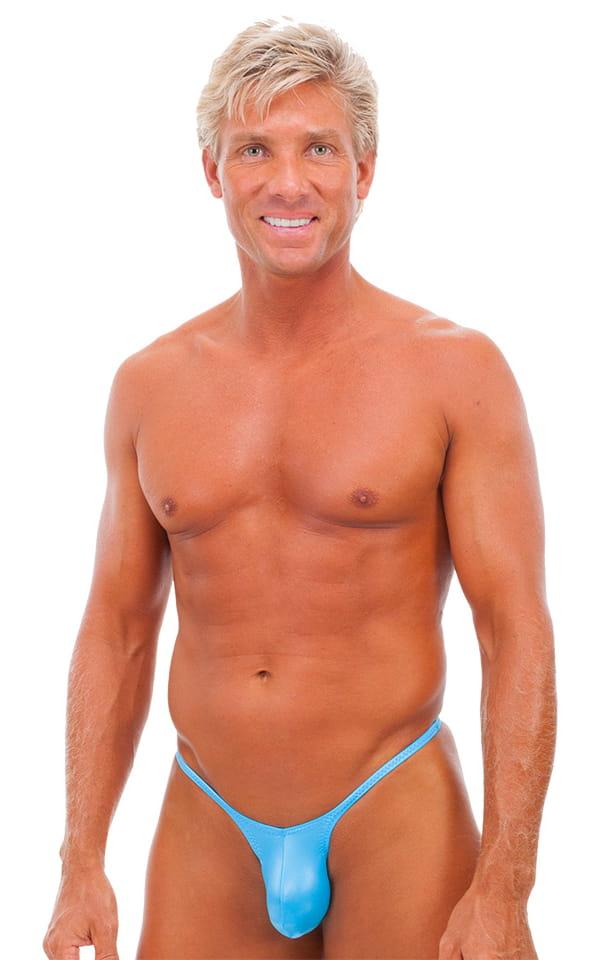 Sunseeker Micro Pouch Half Back Bikini in Wet Look Turquoise 1