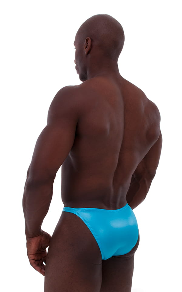 Posing Suit - Competition Bikini Cut in Wet Look Turquoise 3