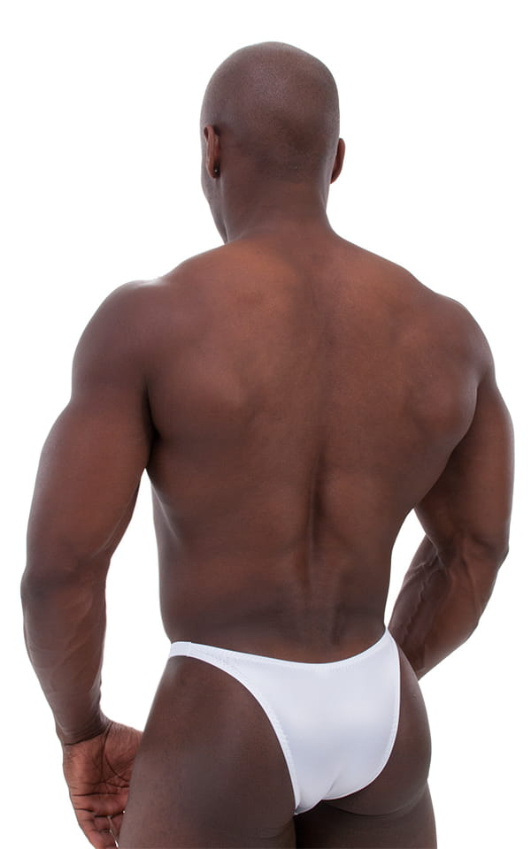 Bodybuilder Posing Suit - Narrow Back in Optic White 3