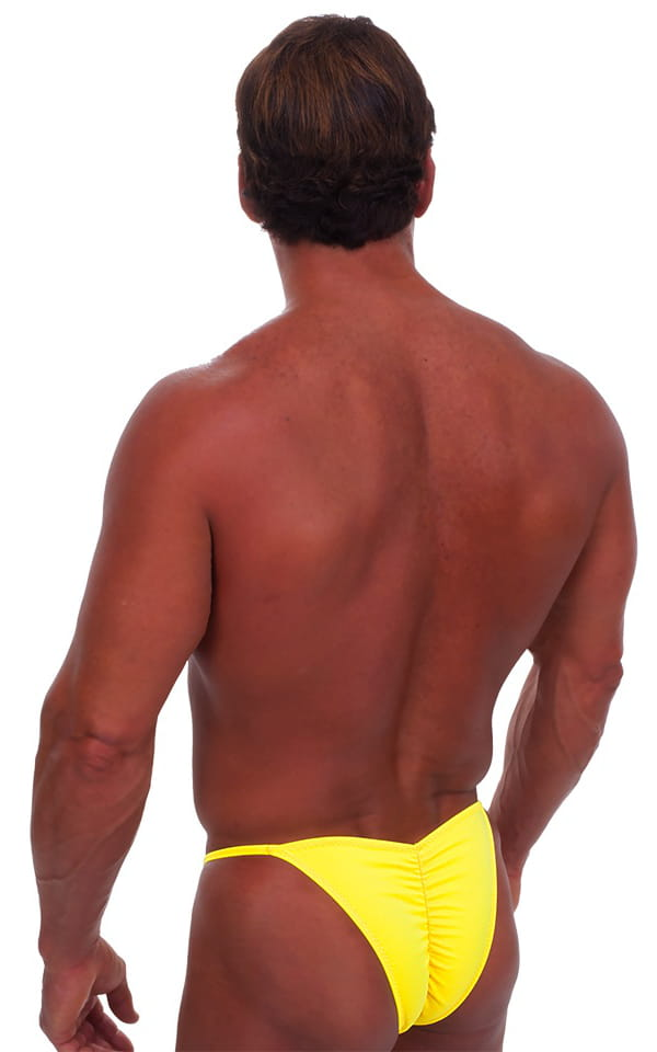 Fitted Pouch - Puckered Half Back - Swimsuit in Citron 3