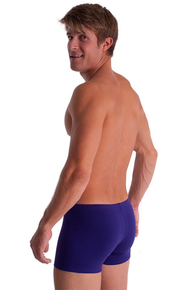 3-Pack - Boxer Length Underwear in Purple cotton/lycra 3