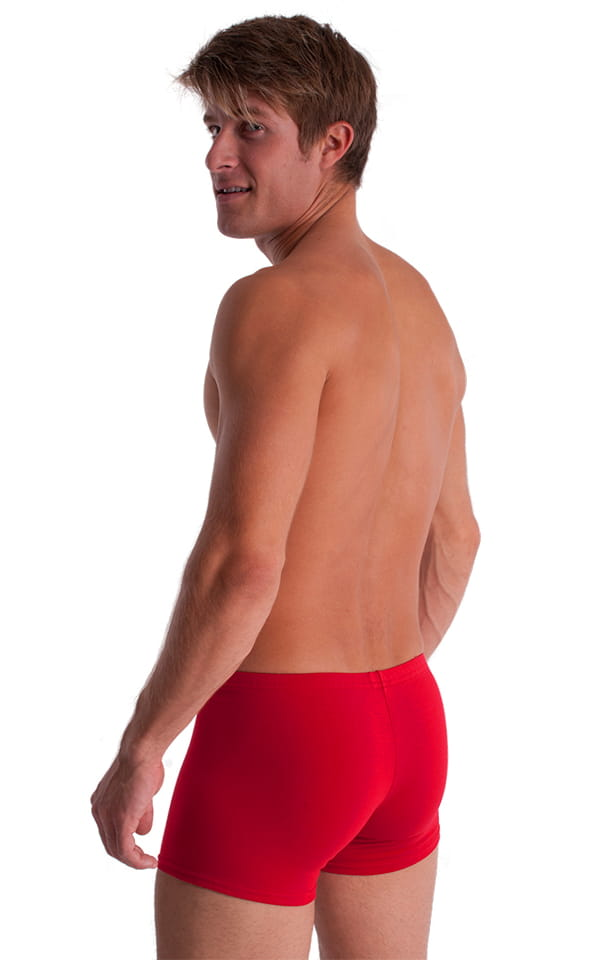 3-Pack - Boxer Length Underwear in Red cotton/lycra 3