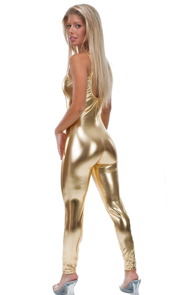 CamiCat-Catsuit-Bodysuit in Liquid Gold 3