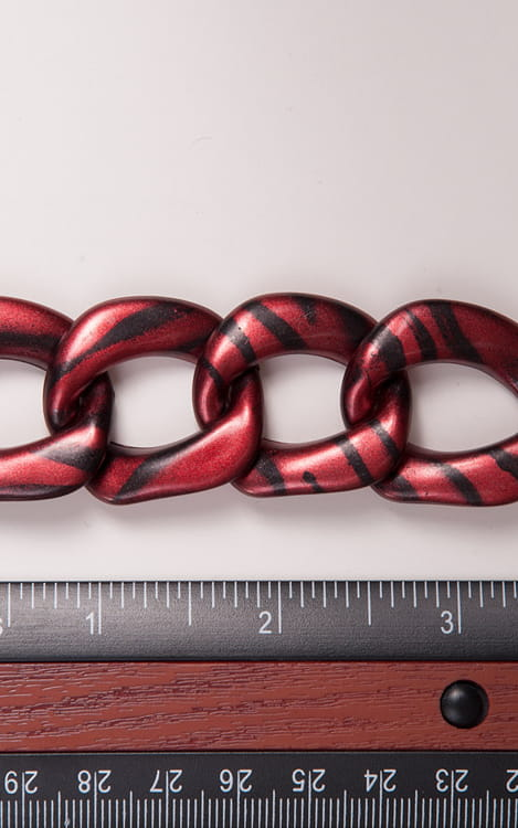 Black and Red Marbleized chain connector 1