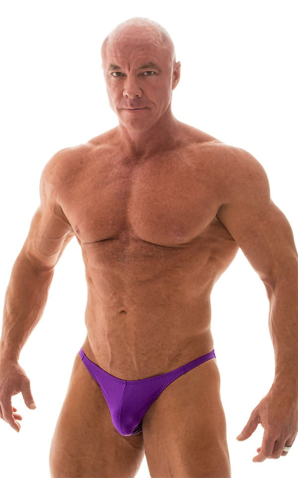 Posing Suit - Competition Bikini Cut in Wet Look Purple 4