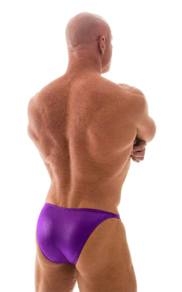 Posing Suit - Competition Bikini Cut in Wet Look Purple 3