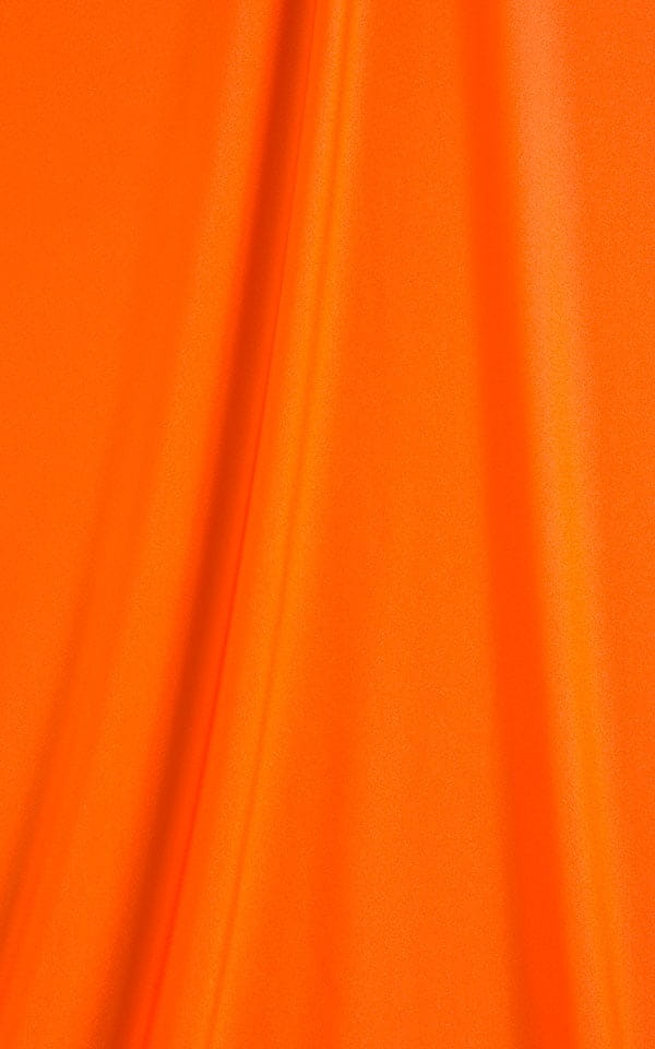 Swimsuit Cover Up Split Running Shorts in Neon Orange Fabric